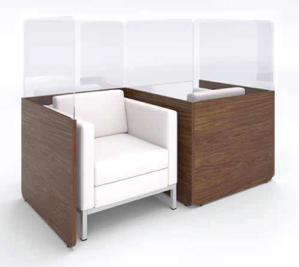 Workplace separation seating solutions from Lacasse