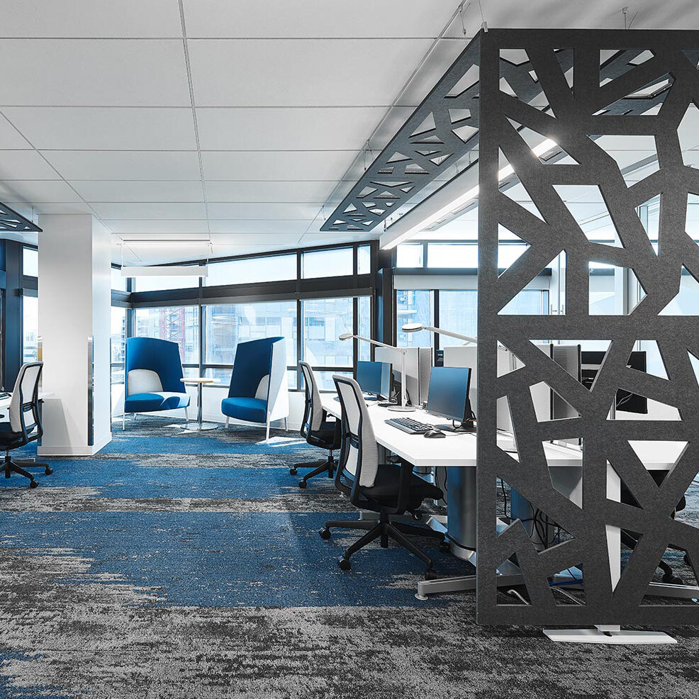 ezoBord acoustic panels can create the perfect open meeting space while managing the sound.