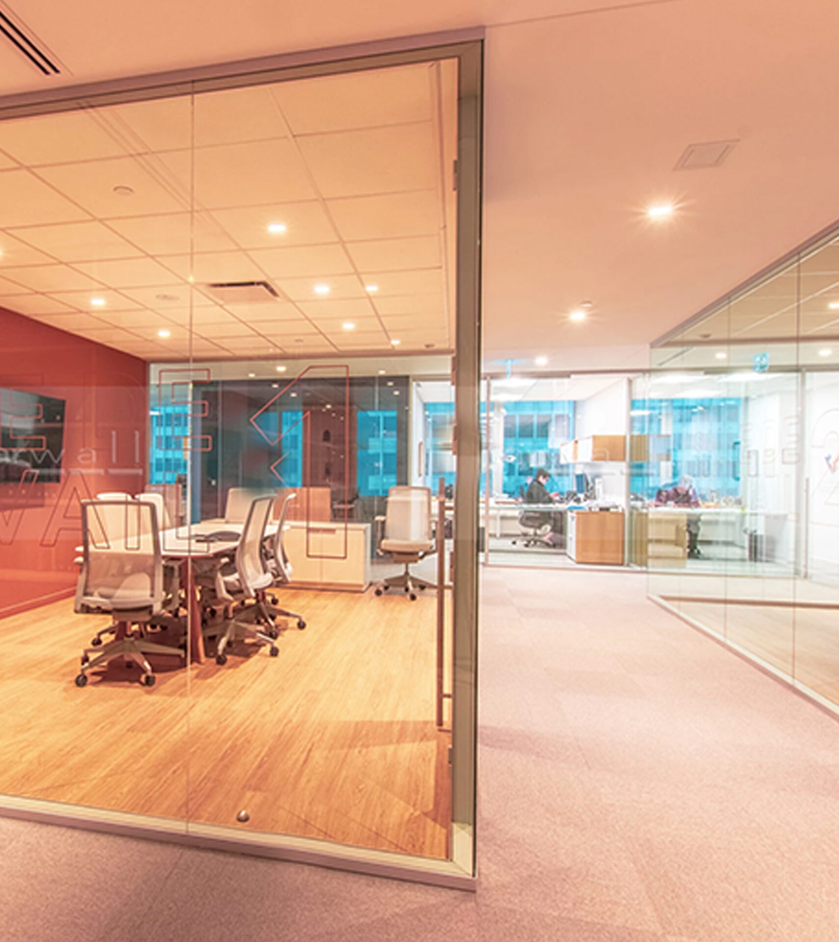 "Create the new ""open concept"" office with Starwall integrated glass wall systems."